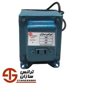 قیمت ترانس تبدیل 220 به 110 ولت 200 وات تک فاز قالپاقی